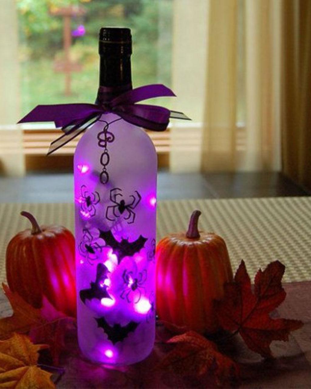Wine Bottle Turns Into Eerie Light