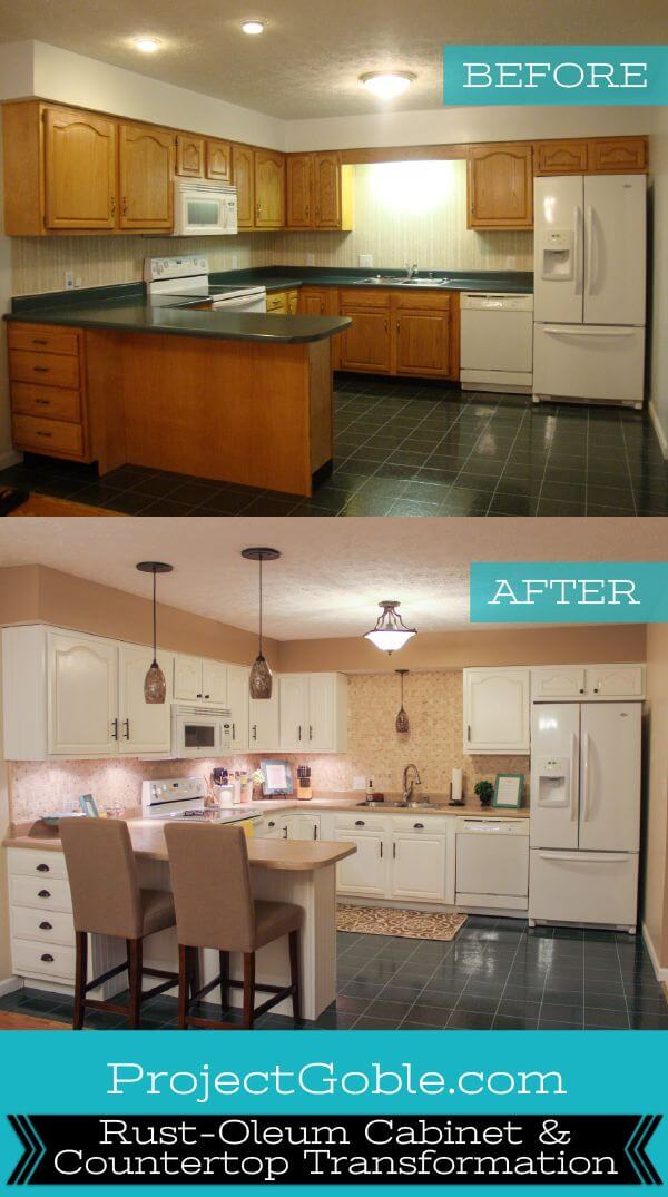 Light, New Counters for a Spacious Kitchen