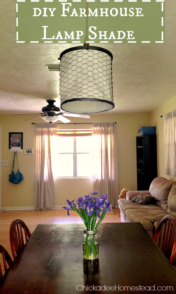 Make Your Own Hanging Lamp Shade
