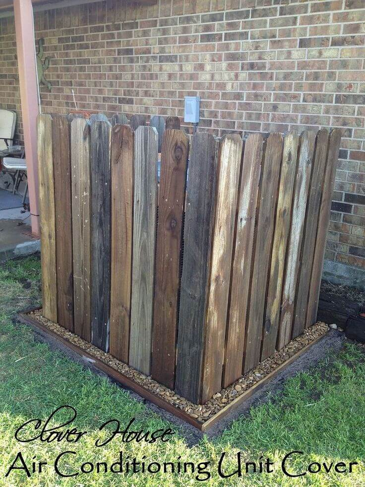 Simple Wooden Fence for AC Camouflage