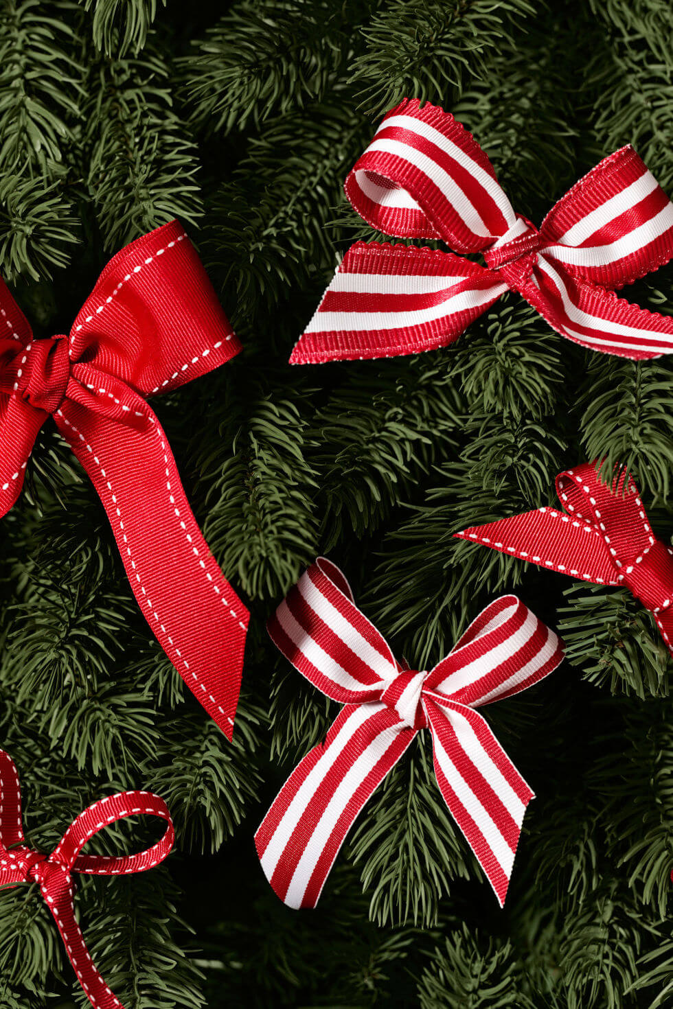 Trim Your Tree in Candy-striped Bows
