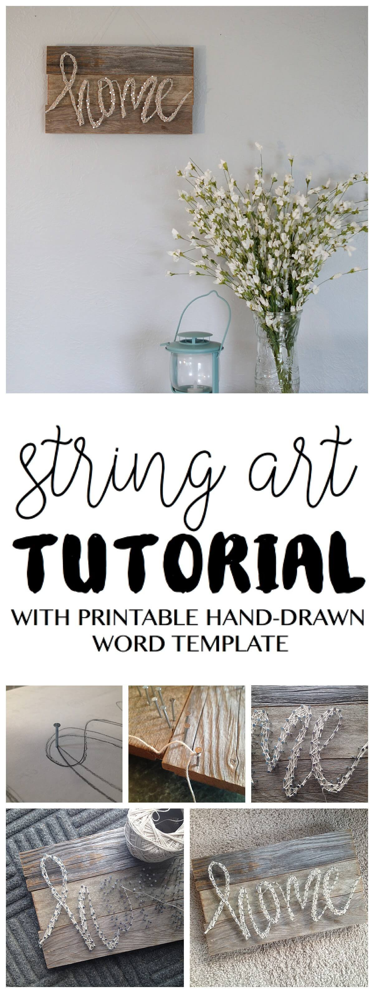 """Home"" String Art Sign Tutorial"