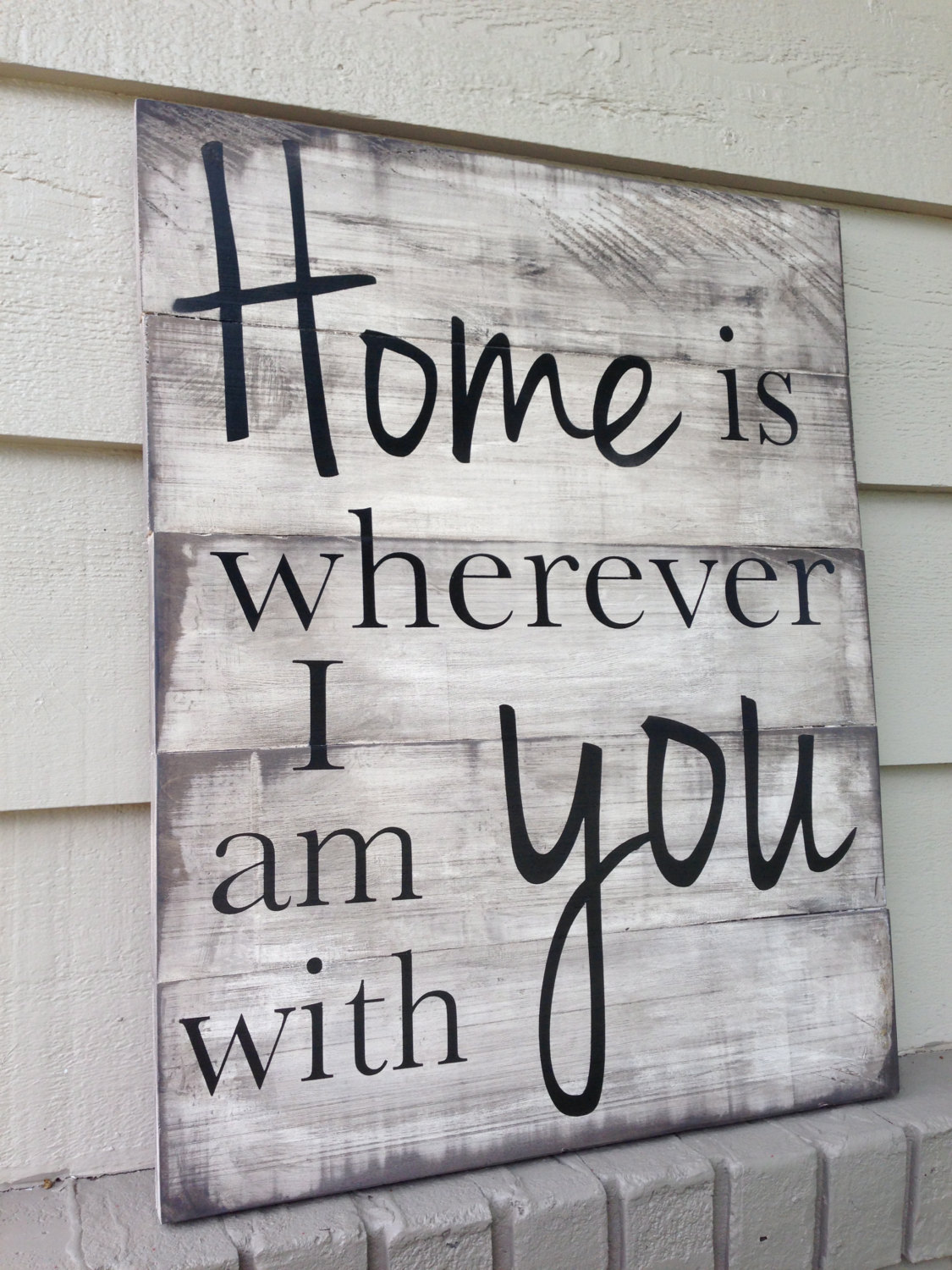 Song Lyric Sign with Vinyl Decal Text