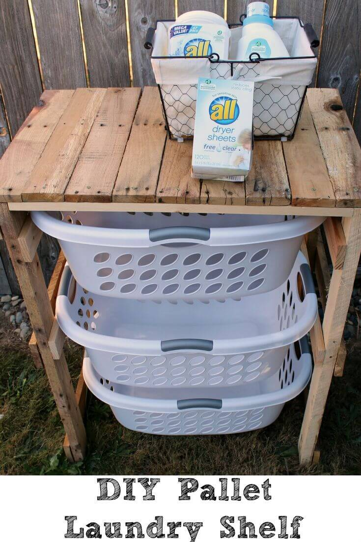 Simply Sudsy DIY Laundry Shelf
