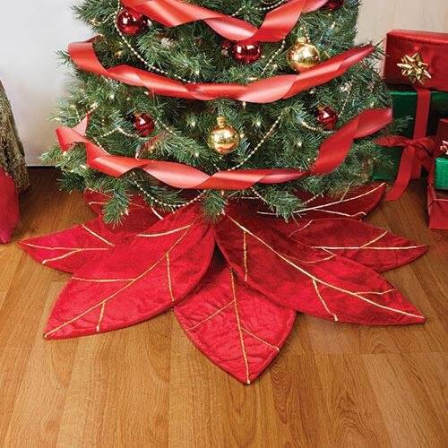 Dress Up Your Tree with a Poinsettia Skirt