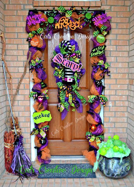 Creative Halloween door decor