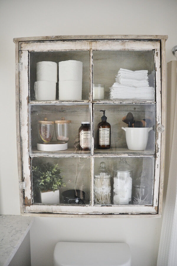 Shabby Curiosities Repurposed Cabinet
