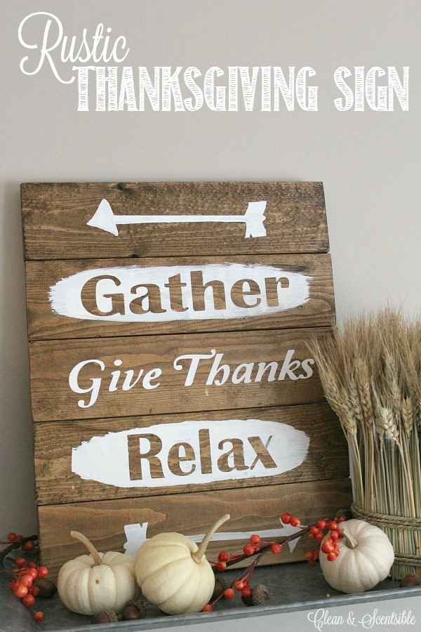 Easy Painted Wood Decoration with Stenciled Lettering