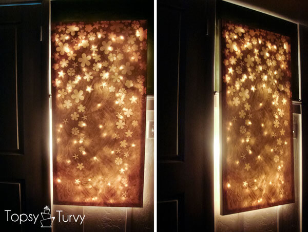 DIY Backlit Canvas Wall Art