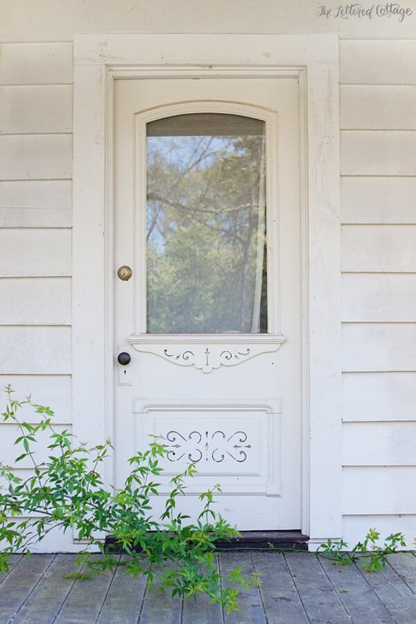 Pure And Pristine White Door With Planters