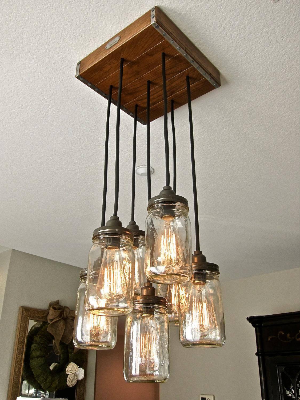 Antique Bulbs in Mason Jars