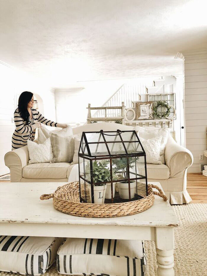 House Shaped Lantern as an Indoor Greenhouse