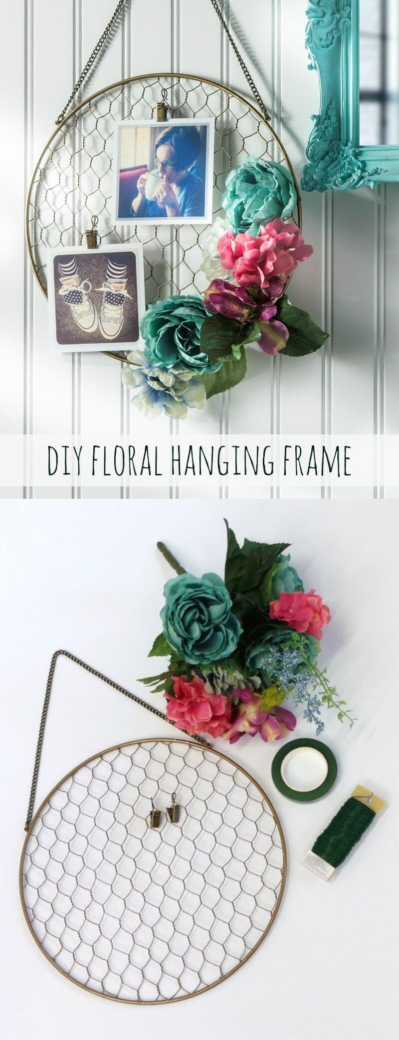 Simple and Easy Floral Hanging Frame