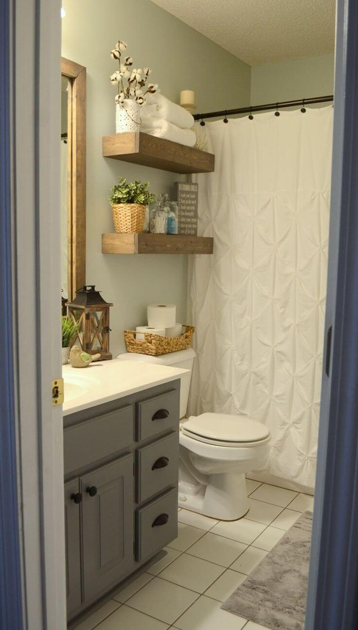 Charming Wood Bathroom Storage Shelves