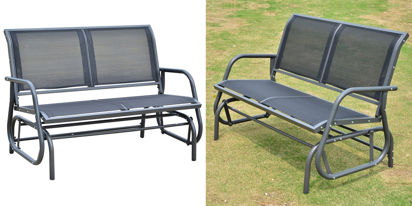 Patio Chair - Outdoor Patio Glider Bench Swing