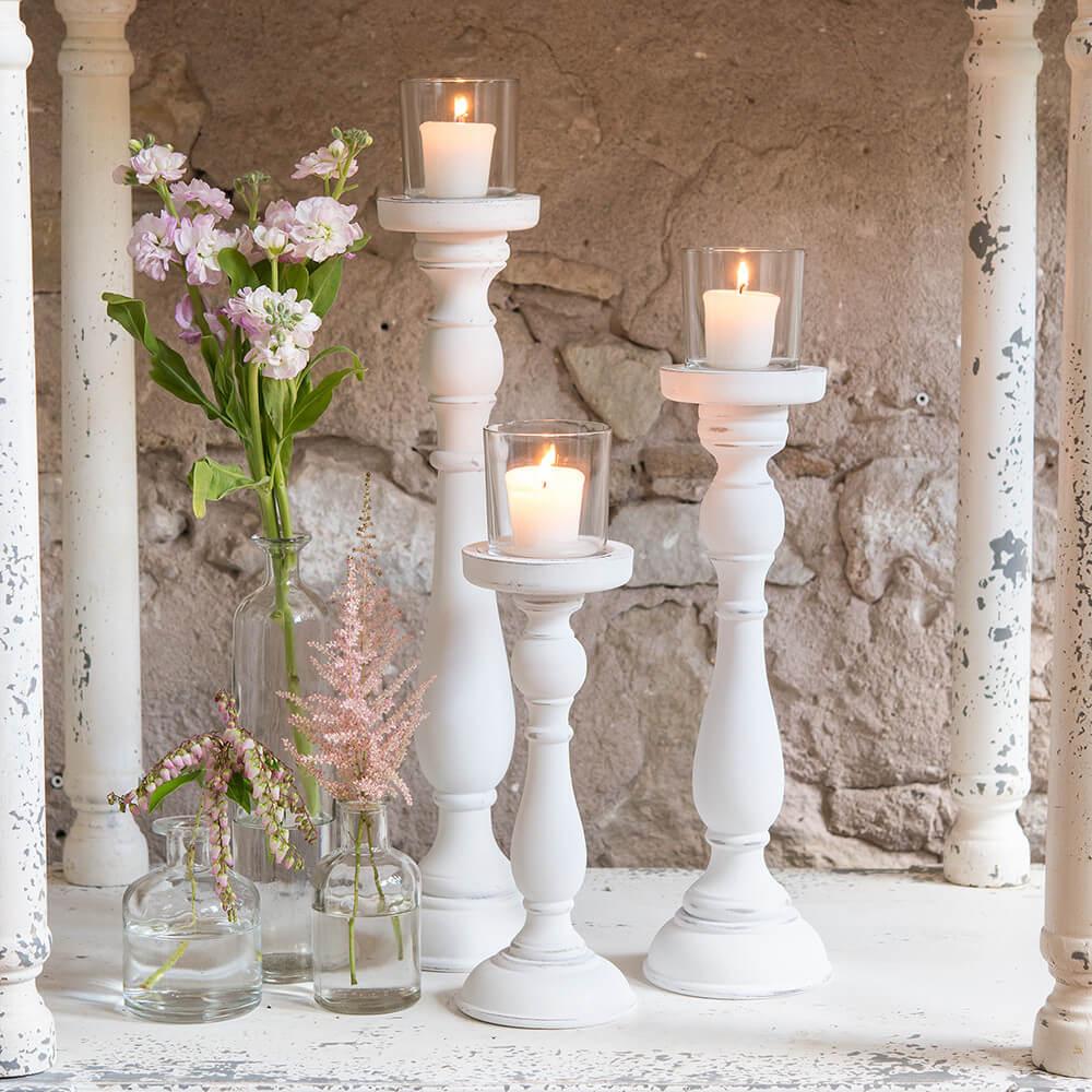 DIY Antique Candlestick Votive Holders