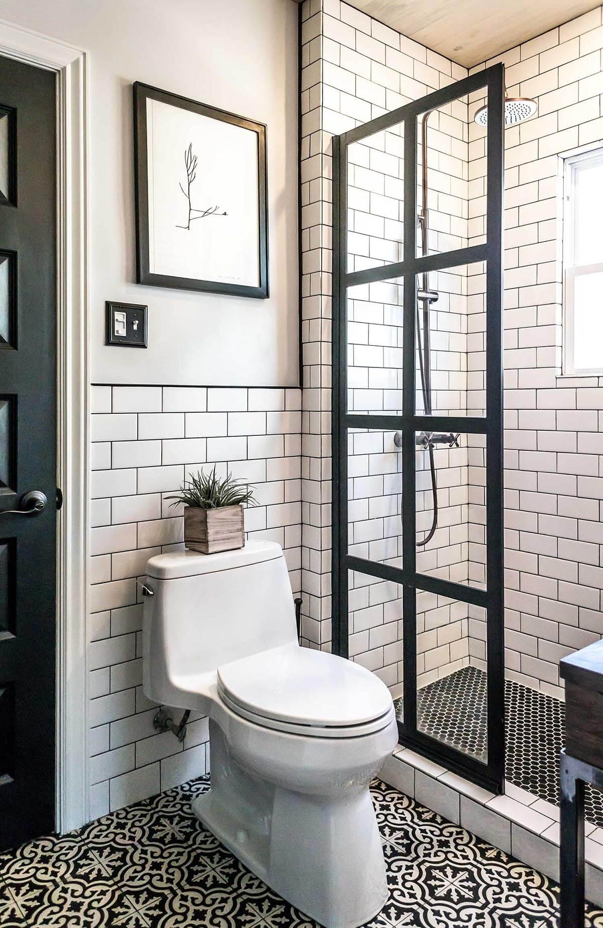Manhattan Chic Black and White Tiling