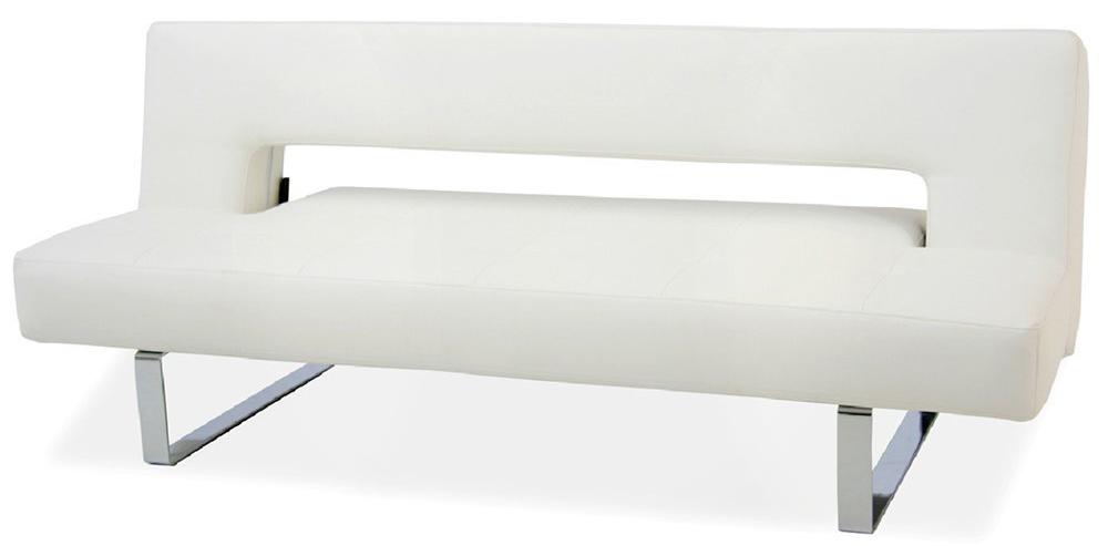 Sleeper Sofa - IDO Furniture Miami Modern Sofa Bed PU-Leather White