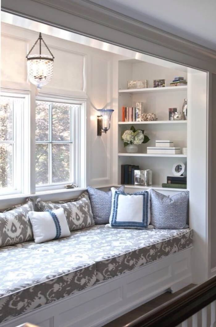 Upgrade Your Window Seat with Built-in Shelves