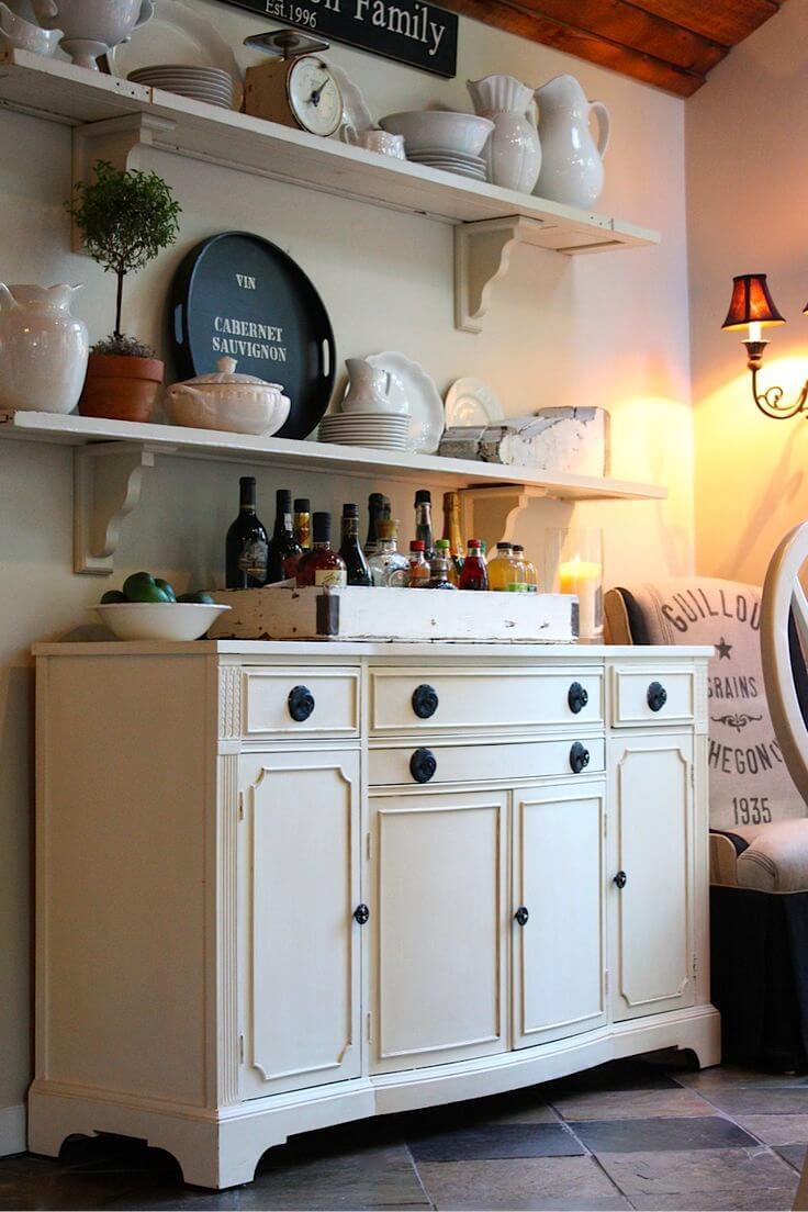Sweet Streamlined Vintage Linen Cabinet