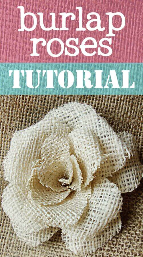 Farmer's Posey Handmade Burlap Rose