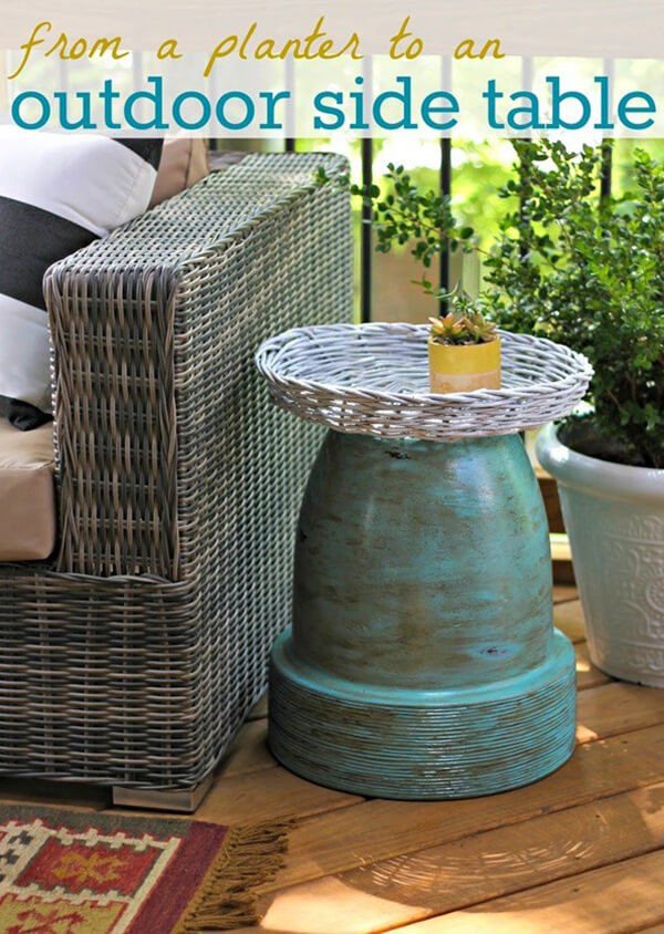 Create a Side Table with a Planter