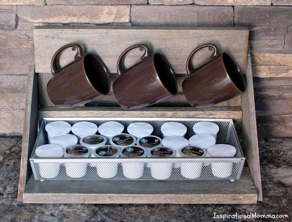 Simple DIY Box with Screws and Coffee Pod Storage