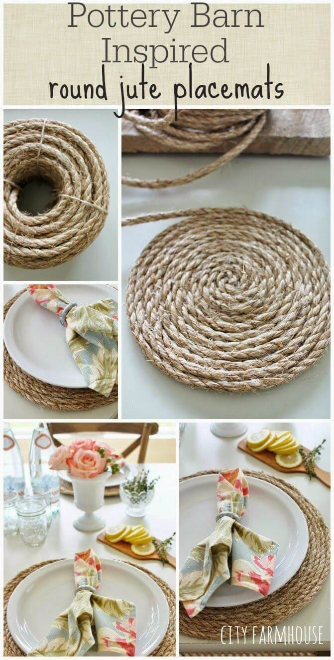 Easy Round Jute Placemats to Make