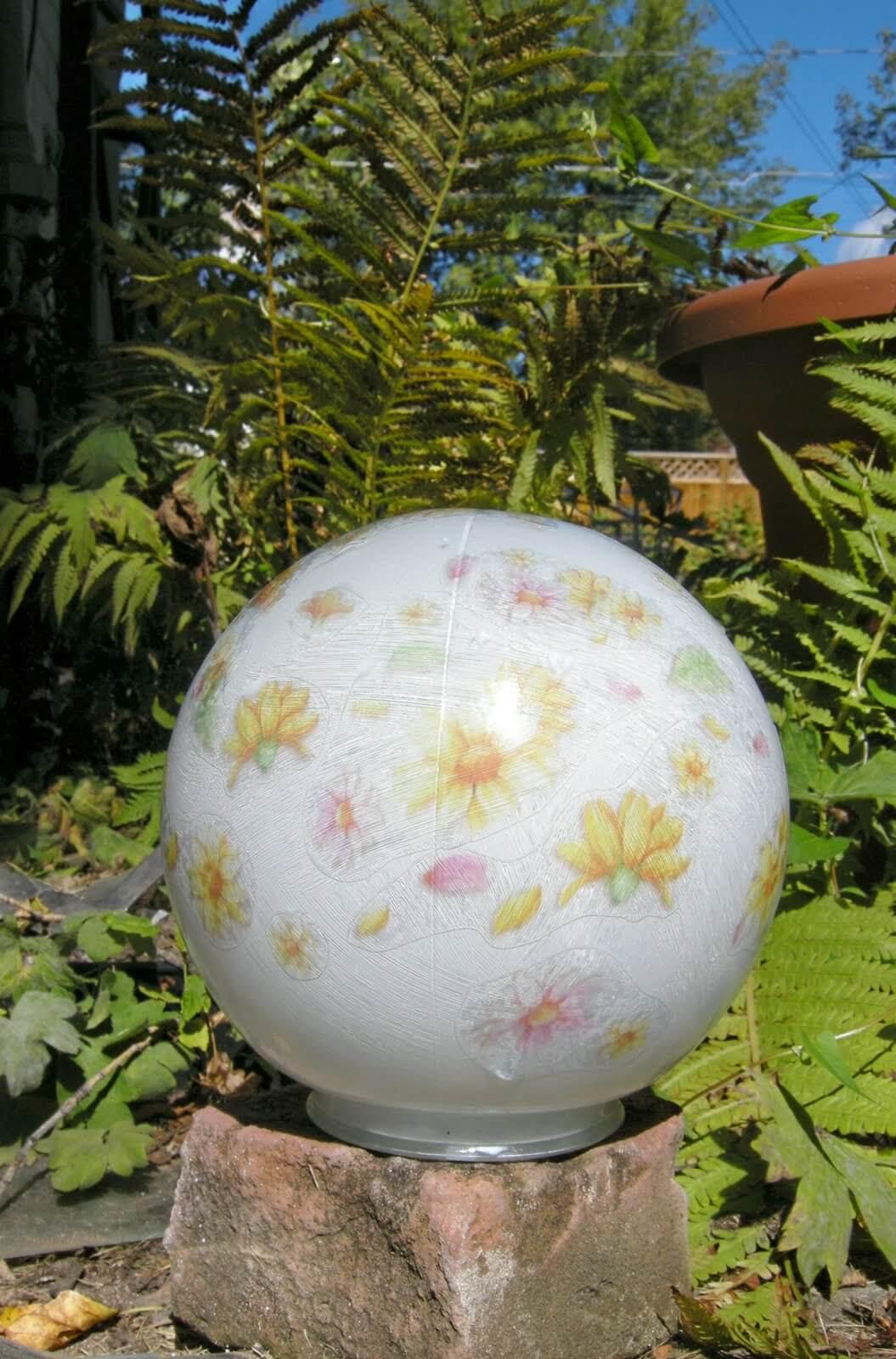 Floral DIY Garden Ball Idea