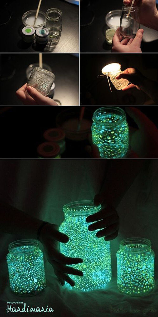 Awesome Glow-In-The-Dark Mason Jars