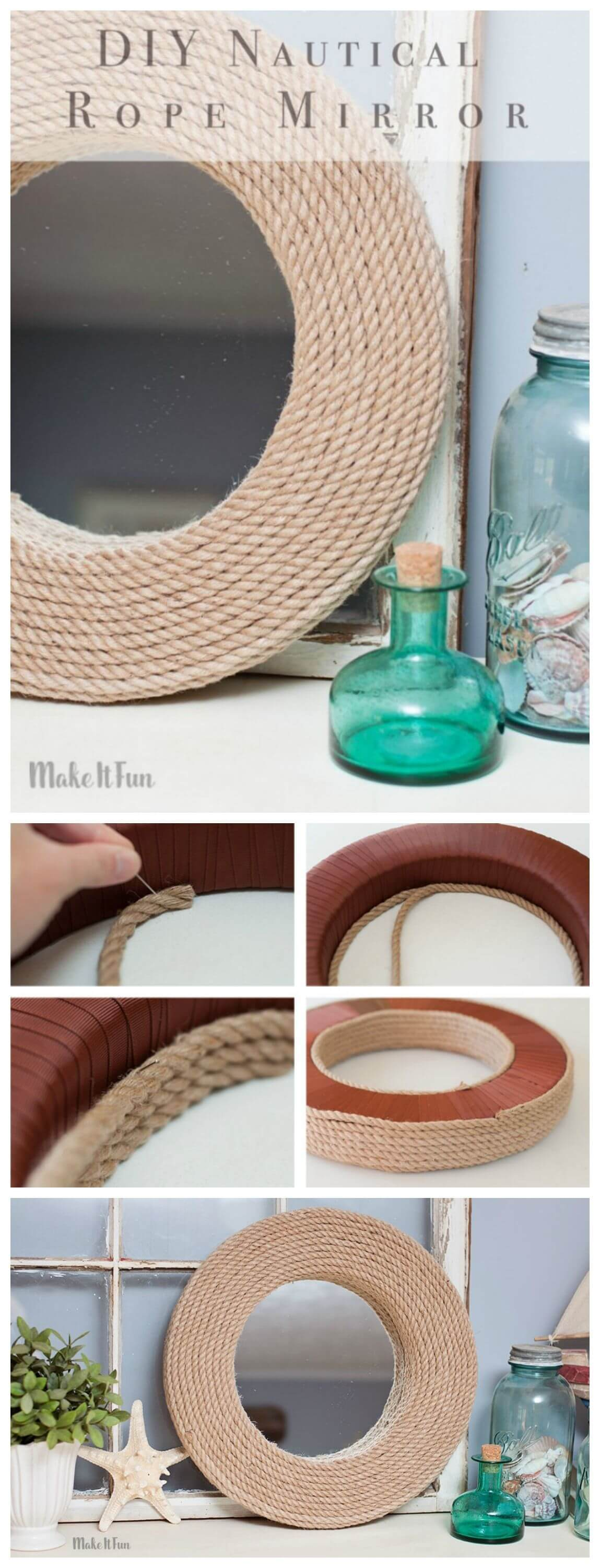 Upcycle an Old Mirror with Rope