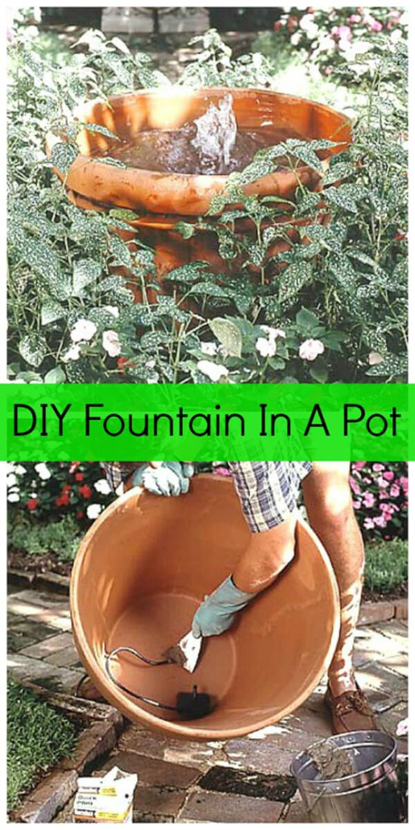Basic but Beautiful Terra Cotta Pot Fountain