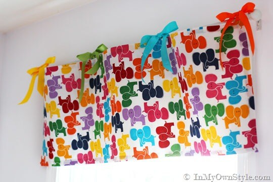 Ribbon and Bright Fabrics for Cute Kids Curtains