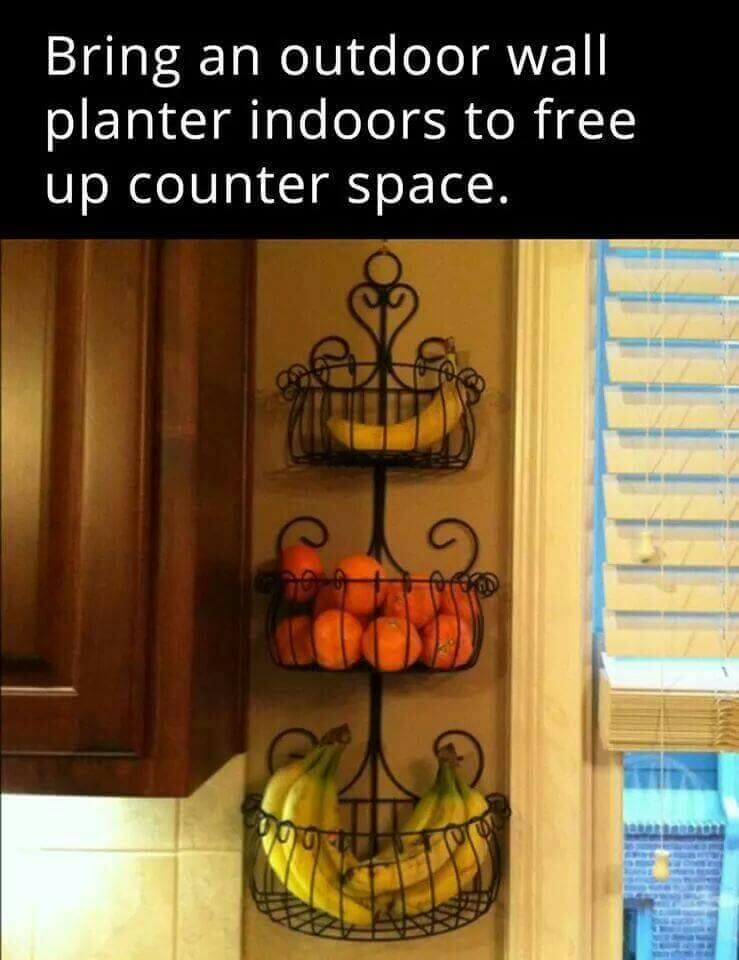 Garden-Inspired Wrought Iron Fruit Baskets