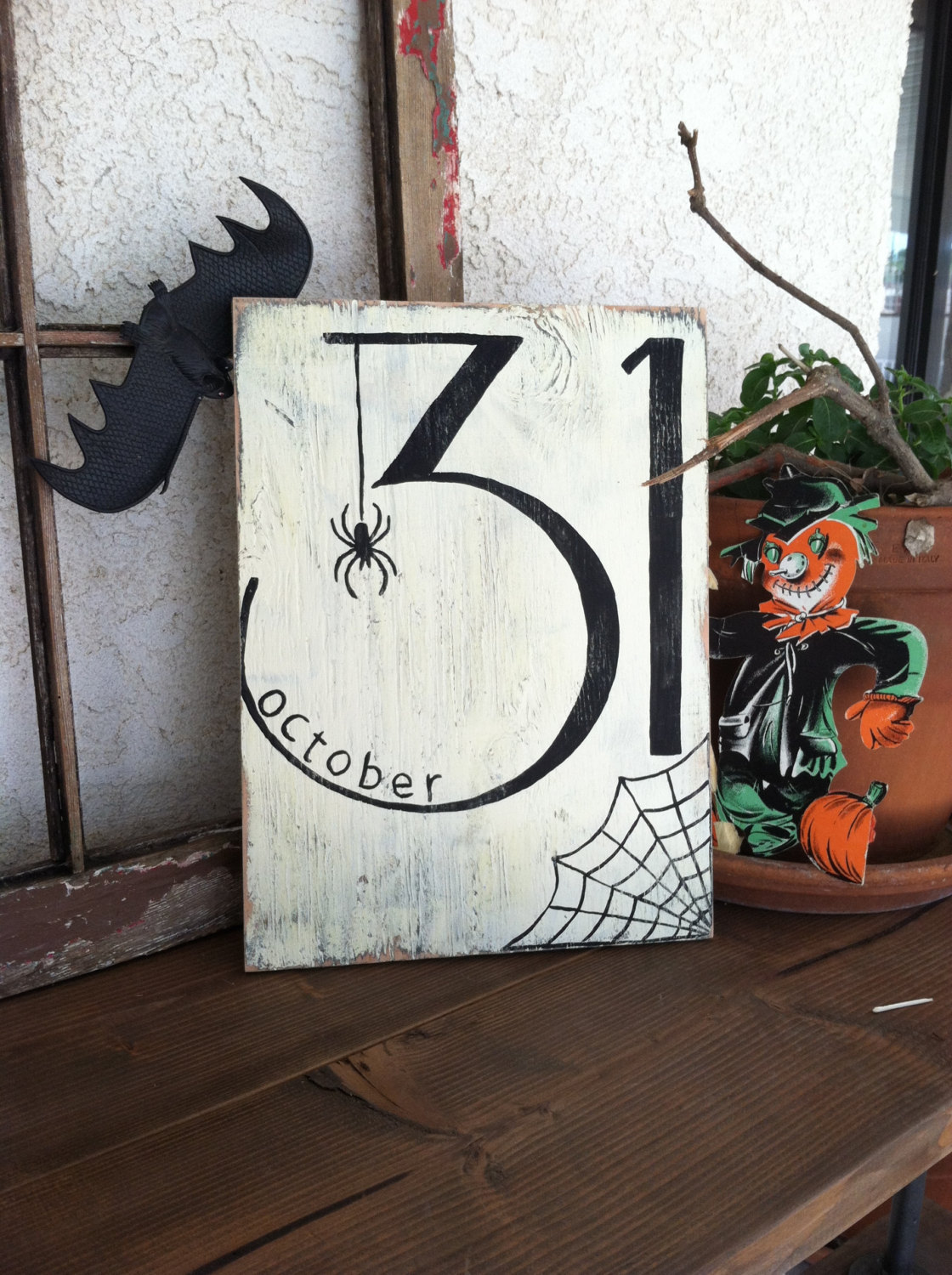Halloween Date with Spider Sign