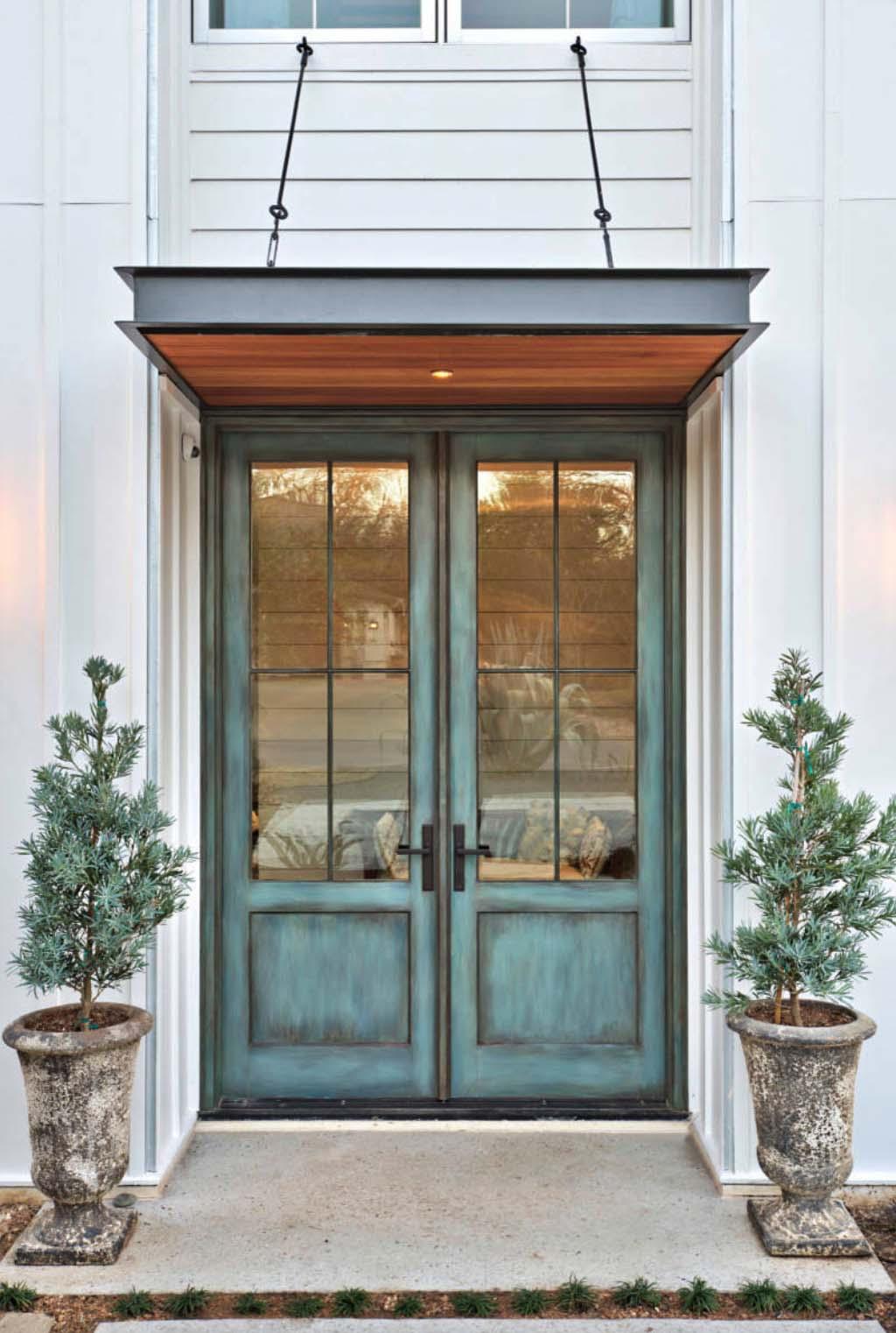 Something Blue Windowed Front Door