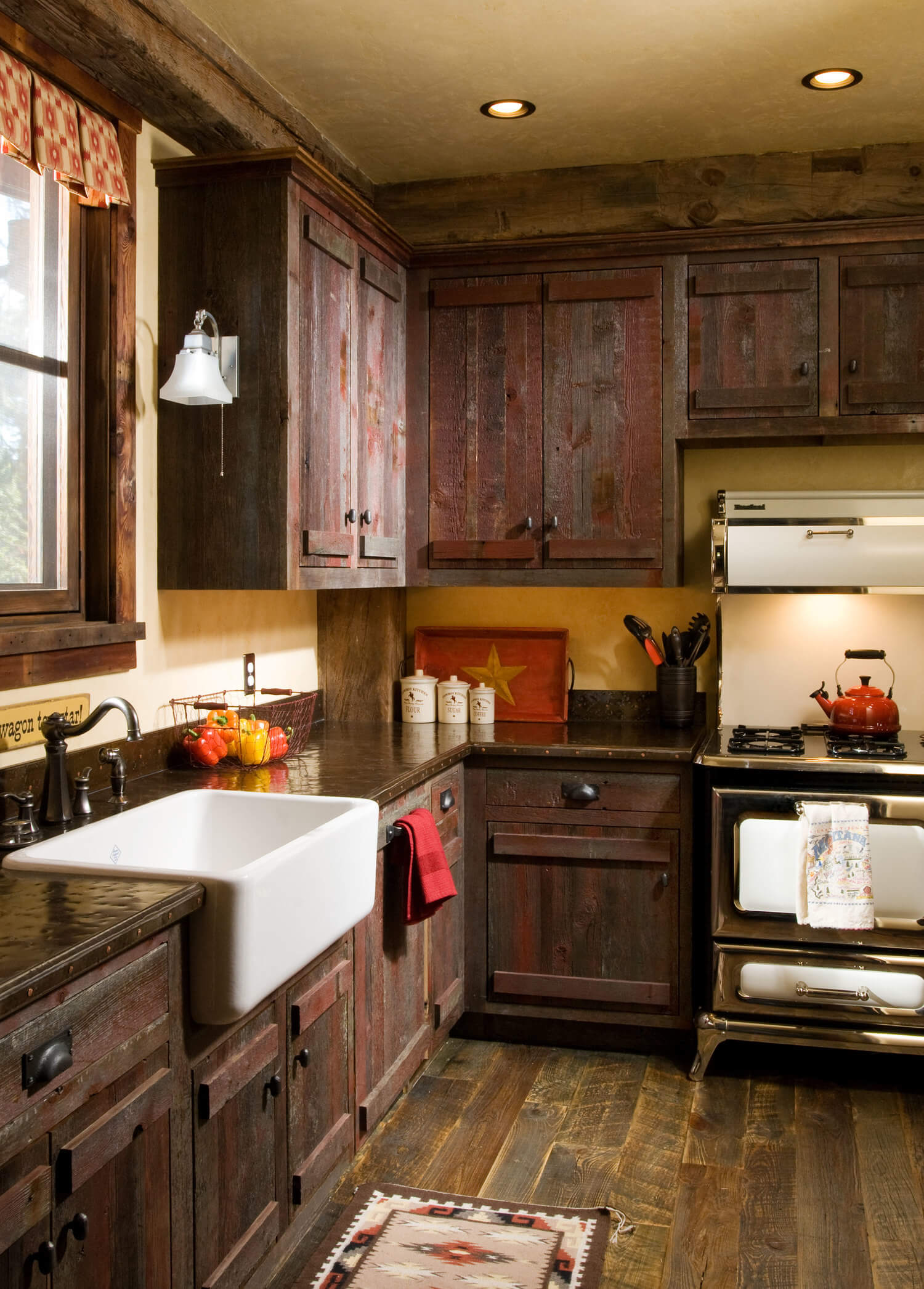Dark Oak Unfinished Farmhouse Cabinets