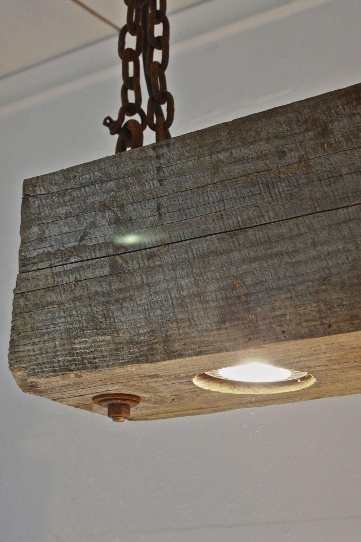 Track Lighting Recessed in Wooden Beam
