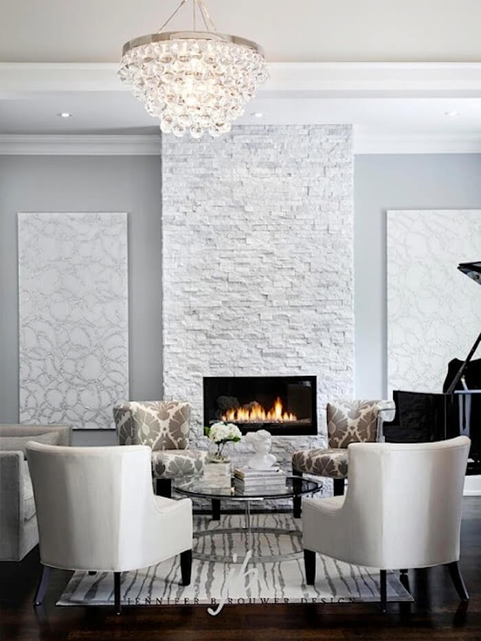 White Modern and Elegant Focal Point