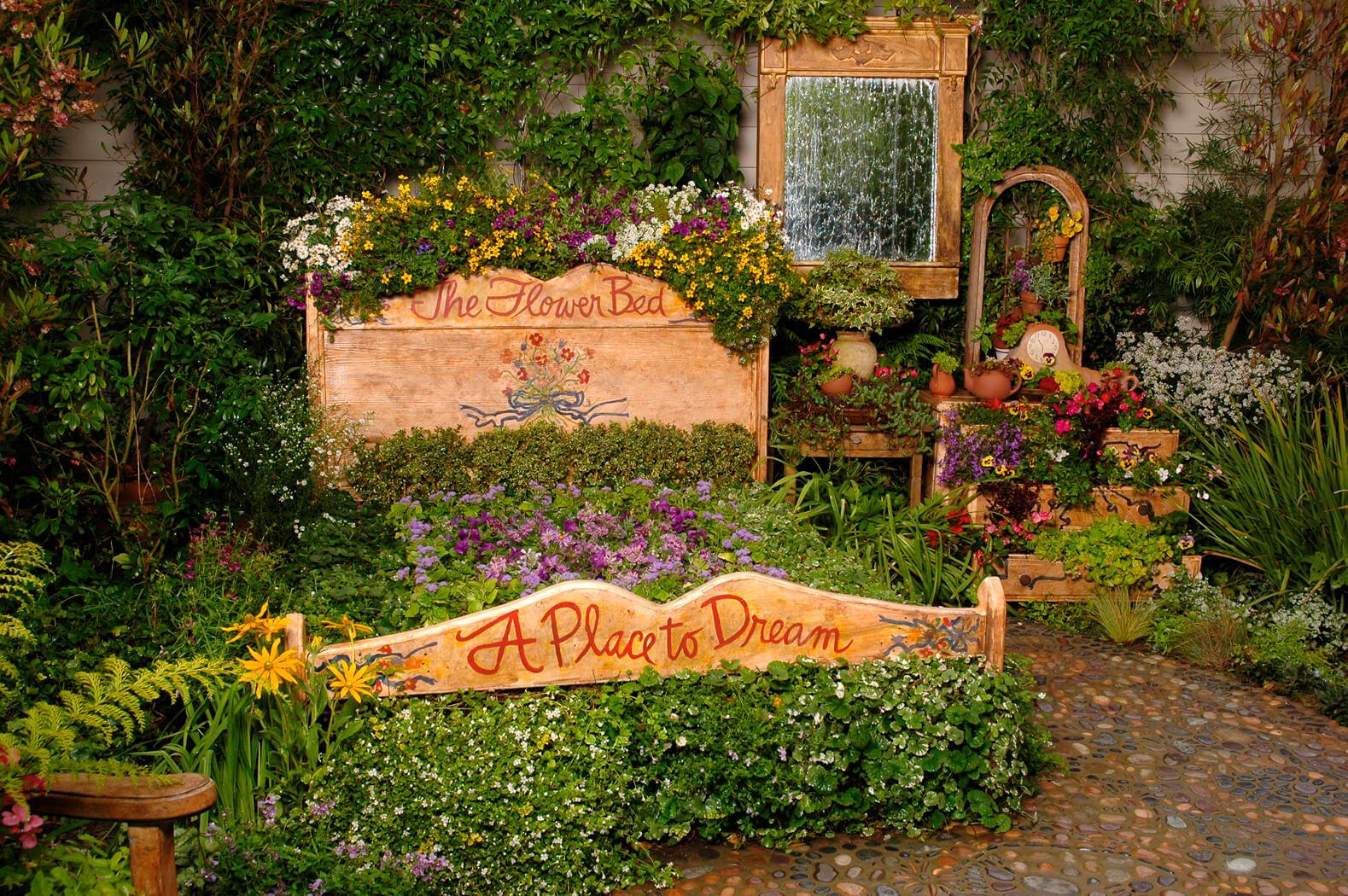 Antique Bed Frame Flower Bed