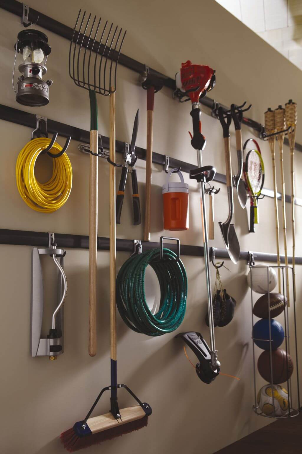 Wall-Mounted Garage Organization Projects