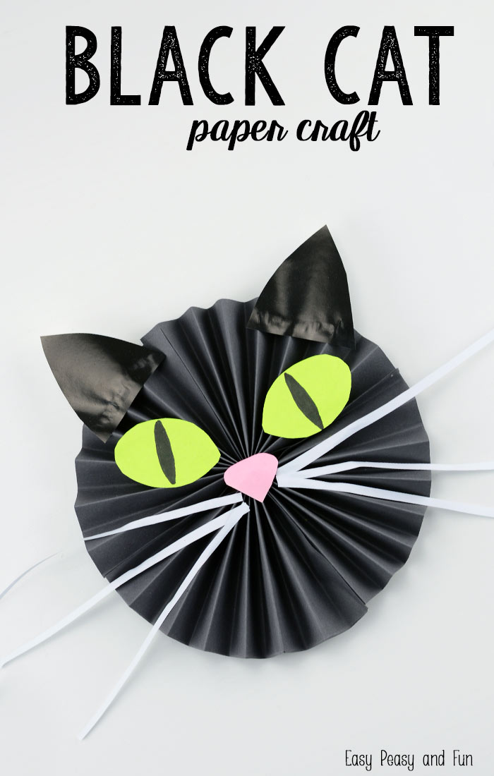 Witch's Kitty Paper Cat