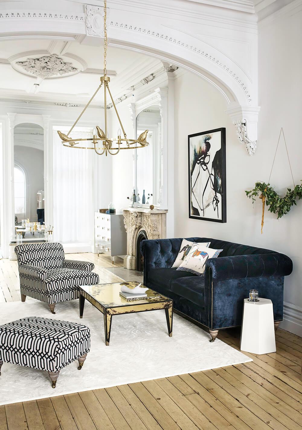 A Multi-Era Living Room Arrangement