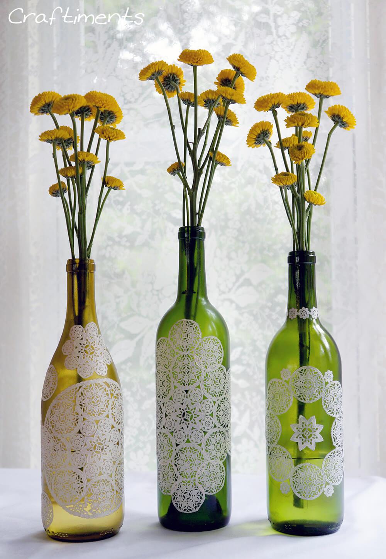 Easy Wine Bottle Vases for Your Favorite Flowers
