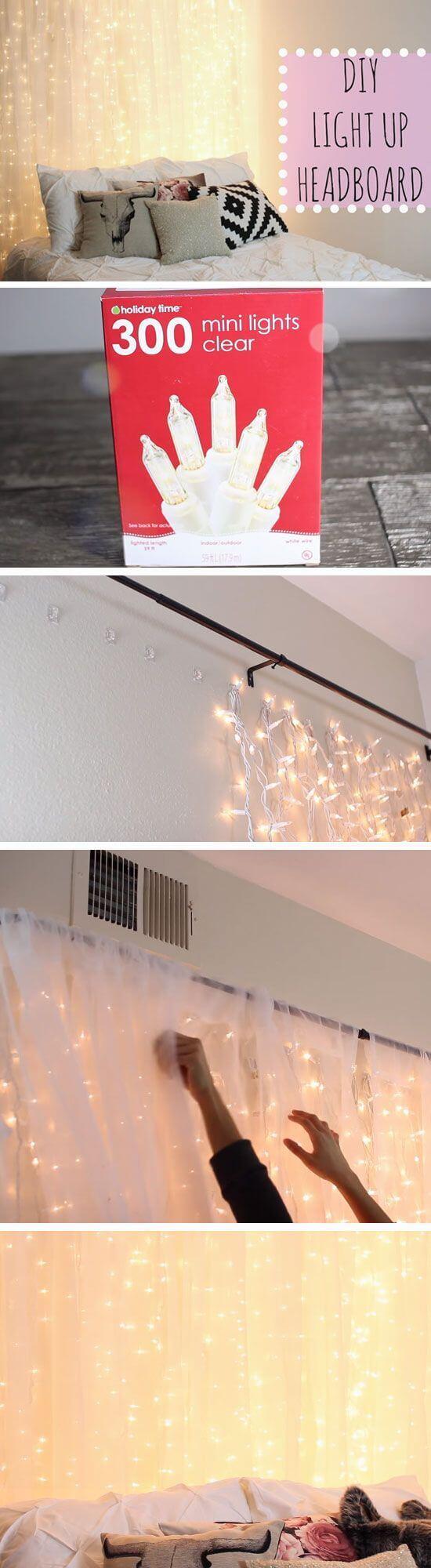 Simply Strung DIY Bedroom Fairy Lights