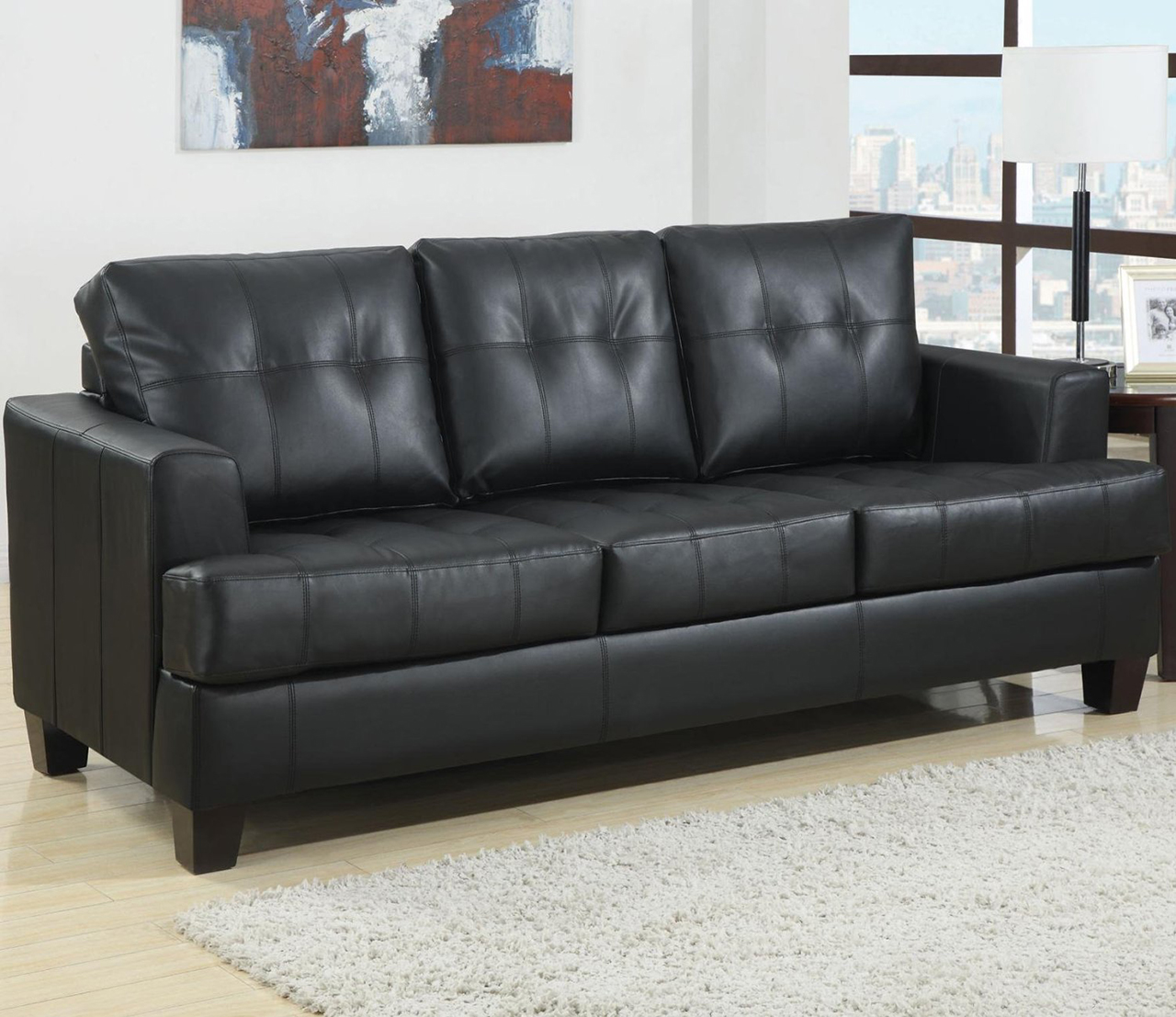 Sleeper Sofa - Coaster Home Furnishings Contemporary Sleeper, Black