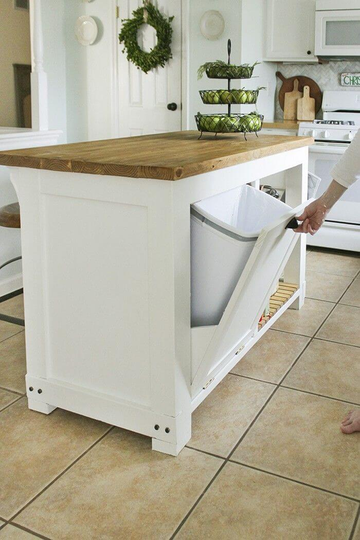 Hidden Trash Unit in Your Cabinets