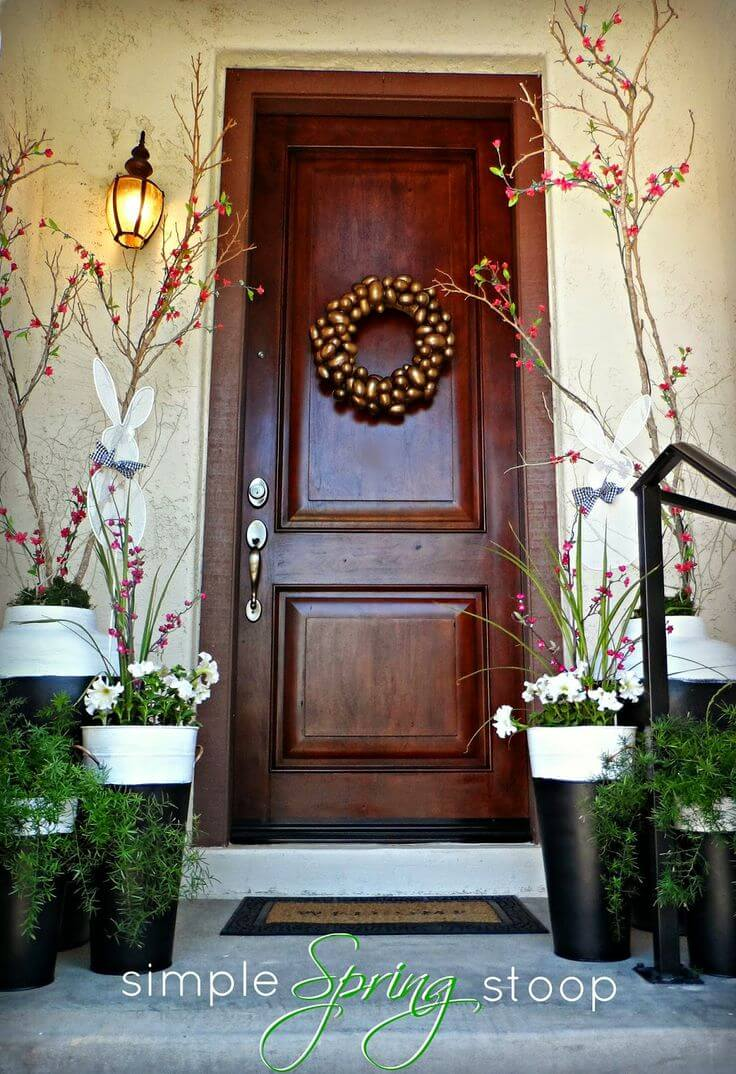 Flower and Branch Planters for Spring