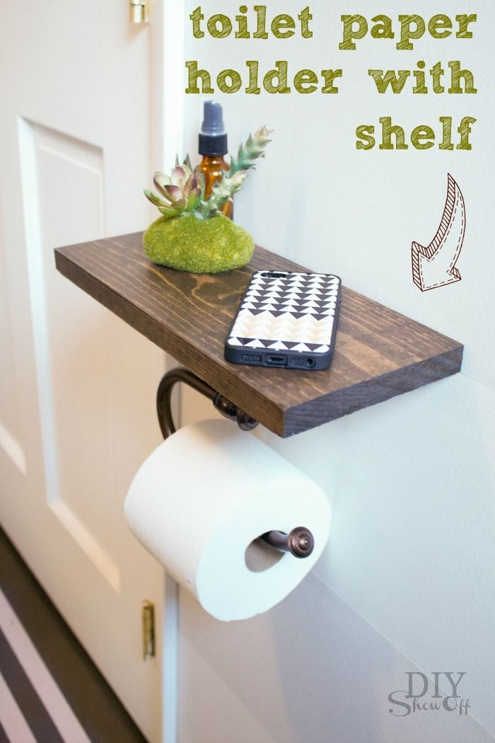 Classy Toilet Paper Holder and Shelf