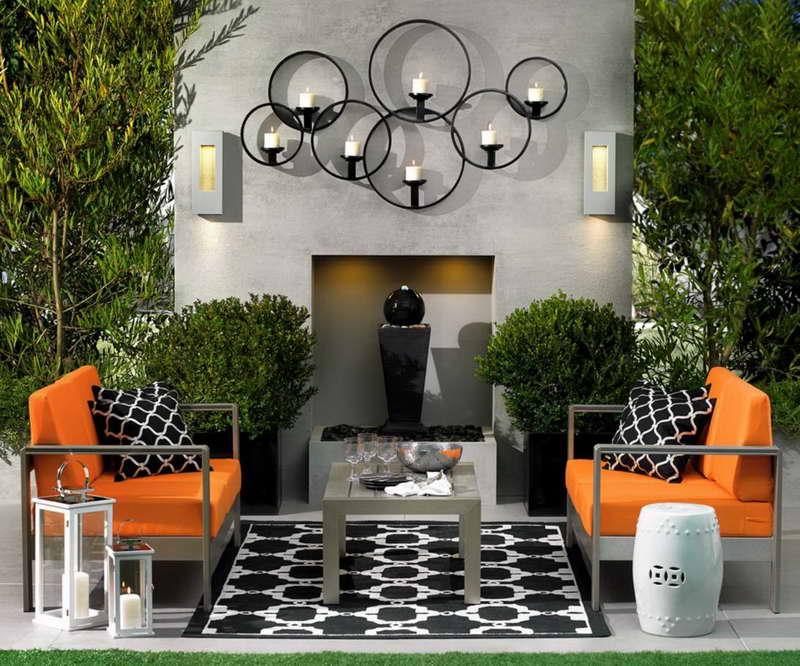 Bold Symmetry Patio Idea